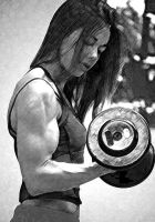 Kristen Does Dumbbell Curls by rorydnumber2