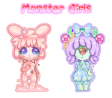 [Cheap] Monster Girl Adoptables by Hatty-hime