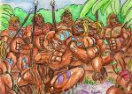 Barbarians in the Jungle 2 by Teracles