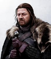 Lord Eddard Stark by hello-ground
