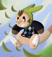 Chespin Attack by Miiroku