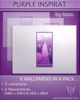 Purple Inspirat  - Wallpaper by kzzu