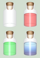 ALTTP Bottles by BLUEamnesiac