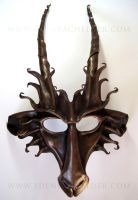 Goat leather mask, brown and bronze by shmeeden