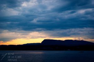 Sunsets in the fjord I by Inarita