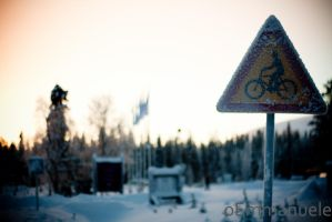 Beware of cyclists - Day 15. 15/01/13 by oEmmanuele