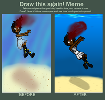 Before And After Meme - Forever Lost by GirlyRainbowVampire