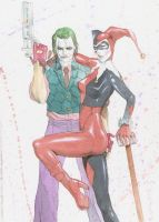 JOKER AND HARLEY QUINN by Dtronaustin