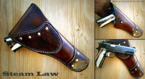 Steam Law Cavalry Holster by rosewolfartisans