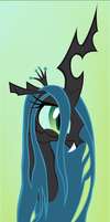 Queen Chrysalis portrait by Ookami-95
