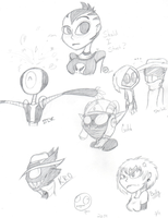 Buncha Sketches I Made Today by Greteh