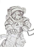 Natacha in Colonial Spacesuit by dan338