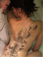My sexy back tattoo by Akane-Miyomi