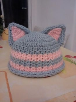My niece's Cat Beanie by Silversname