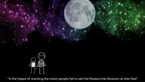 The moon and the flowers by sir-log