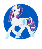Rainbow Power - Rarity by FuyusFox