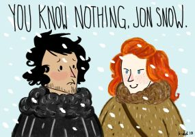 You Know Nothing, Jon Snow. by dot-dashlee