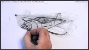 Learn How To Draw A Cartoon Airplane 035 by drawingcourse