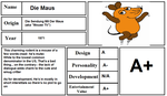 Character Report Card: DieMaus by CyberFox