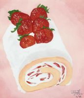 Strawberry Swiss Roll Ish by PetiteWishes