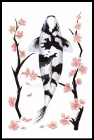 Cherry Blossom Koi by vantid