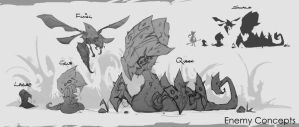 Enemy Concepts-Development by JustMick