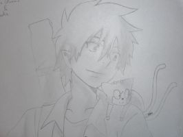 Rin Okumura and Blackie by ShadowAvenger94