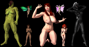 Fantasy Females II - More or Less by Sailmaster-Seion