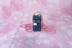 Polymer clay Doctor Who Tardis by Claycreations96