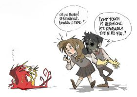 Potter and the phoenix menace by Sally-Avernier