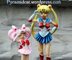 Sailormoon  and  Chibimoon Garage Kits by Pyramidcat