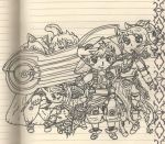 My Party (half complete,uncolored) by shibblesgiggles01