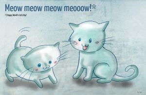 Meow Meow World's Cats Day by StarlightsMarti