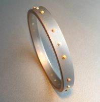Bradded Stainless Bangle by Spexton