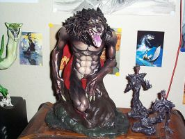 Werewolf sculpture by Meadowknight
