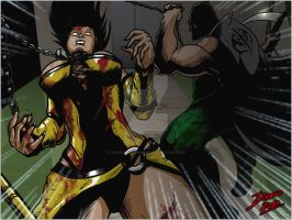 Tanya vs Mileena panel 3 by TheInsaneDarkOne