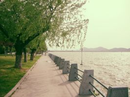 Walking by the lake by Laura-in-china