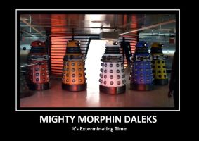 Mighty Morphin Daleks by HavokSCO