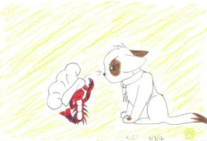 Lobster dinner fight for two by TOM-CATS