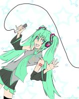 VOCALOID Miku colored by Pharos-Chan