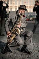 Jazzman at Prague by PraguePhotography