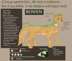 character ref Bowen by true-crystalwolf