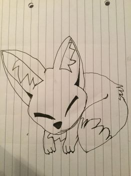 Cute fox by DrawWithDoors