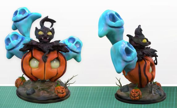 Pumpkaboo using Trick or Treat 3D Print by MyWifesAVelociraptor
