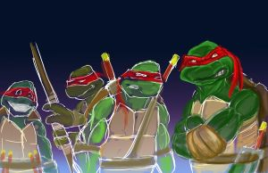 Turtles WIP by royalentertainment
