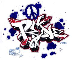 peace graffiti by rocklizard