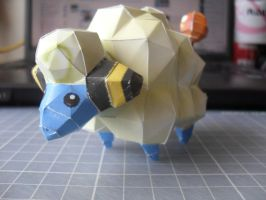 Papercraft - Mareep 04 by ckry