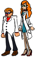 Concept: Dr. Robotnik and Dr. Beacon by Needle-Mouse