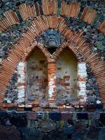 Gothic ruins V - window by Vrolok-stock