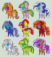 Free Pony Adopts :OPEN: by MysticalSquad